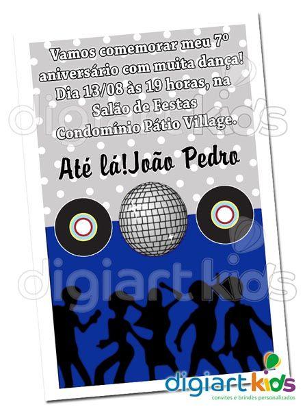 Convite Personalizado Discoteca Mod 02