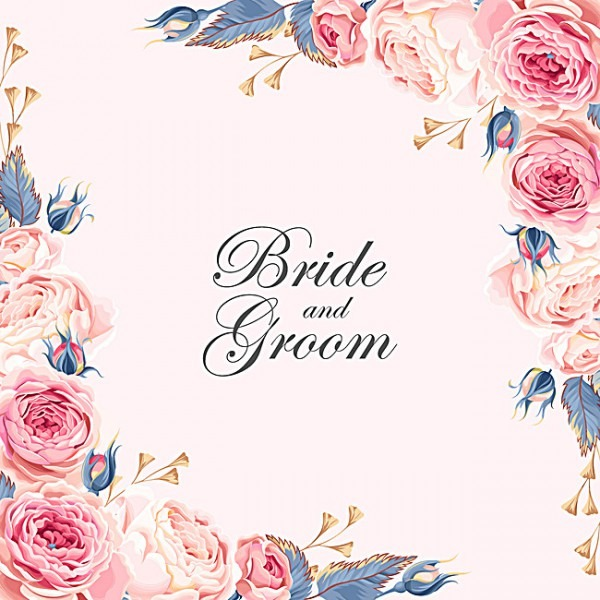 Casamento Convite Cor De Rosa Flores Background, Casamento