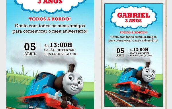 Convite Thomas E Seus Amigos Digital Para Whatsapp No Elo7