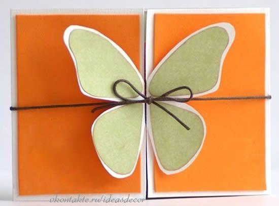 Cartão Borboleta Com Molde Para O Dia Das Mães
