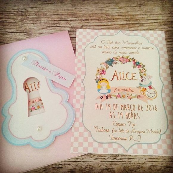 Convite Alice No País Das Maravilhas …