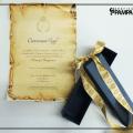 Caixa Para Convite Pergaminho