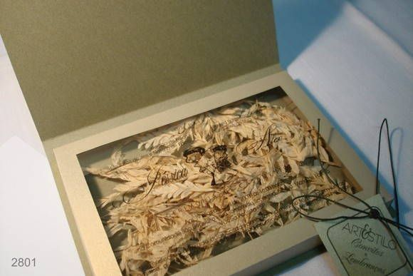 Convite Box Padrinho Confeccionado No Lamê Ouro, Texto Impresso Na