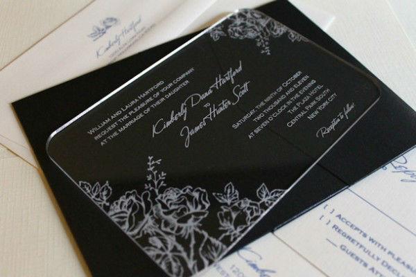 Acrílico Personalizado Convite De Casamento