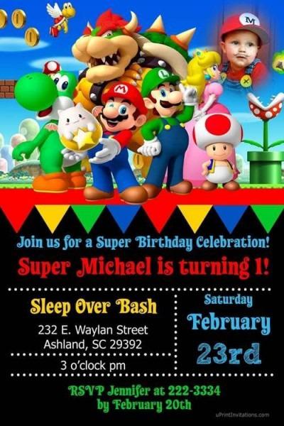 20 Convites Mario Bros E Sua Turma! – Modelos De Convite