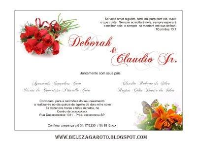 Designer Draw  Convite Casamento (modelo Em Corel)