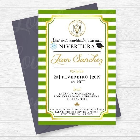 Arte Convite Digital Formatura Medicina Veterinária 01