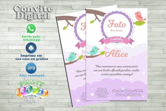 Convite Digital Primavera Infantil