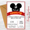 Arte Convite Mickey