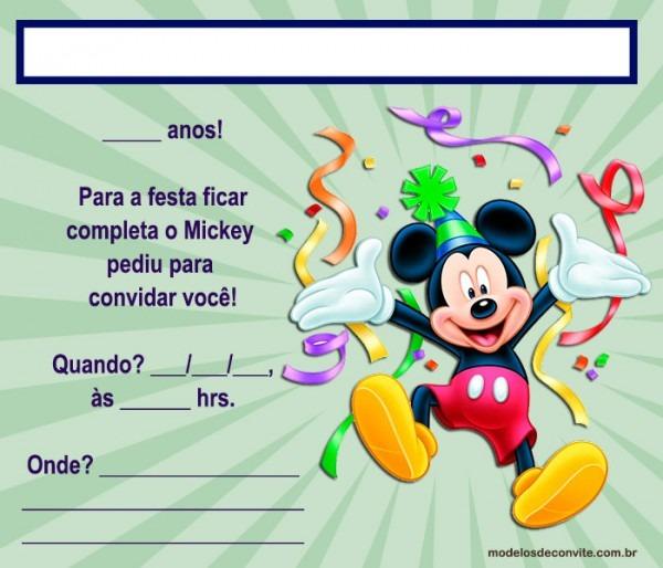 40 Convites Do Mickey Editáveis E Personalizados! – Modelos De Convite