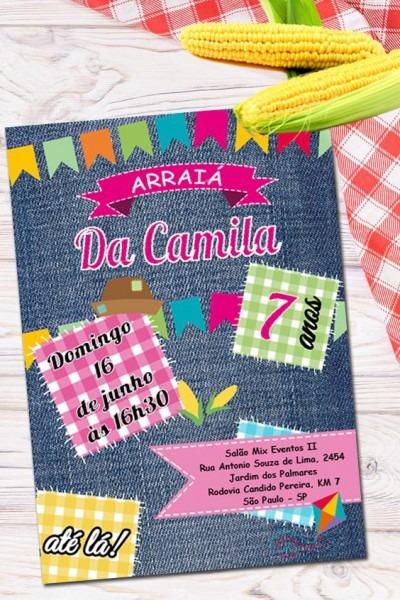 Convite Festa Junina Para Editar No Word  □ Clique No Pin E