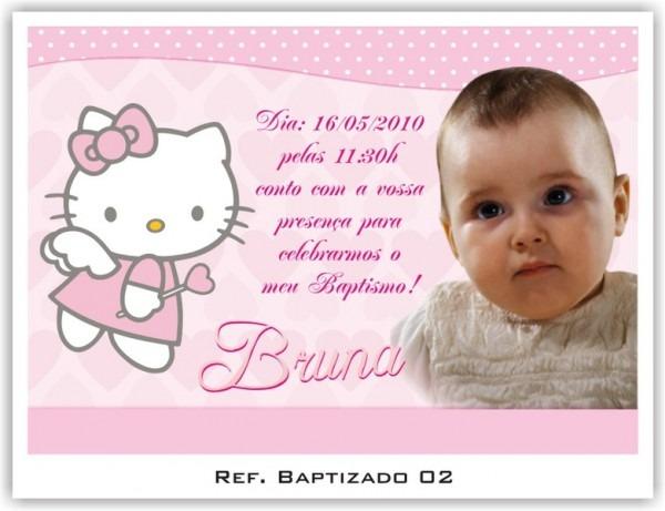 Convites Personalizados Baptizado