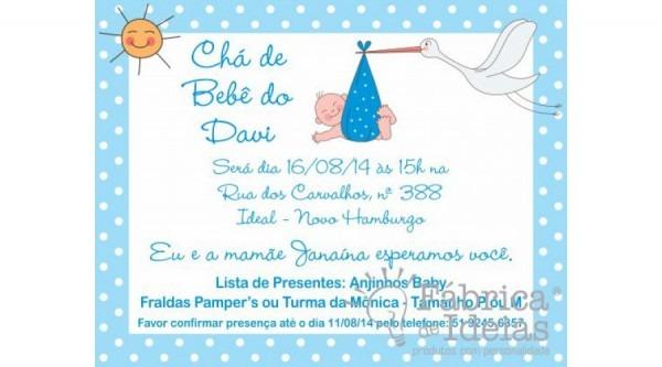 Convite 9x7cm