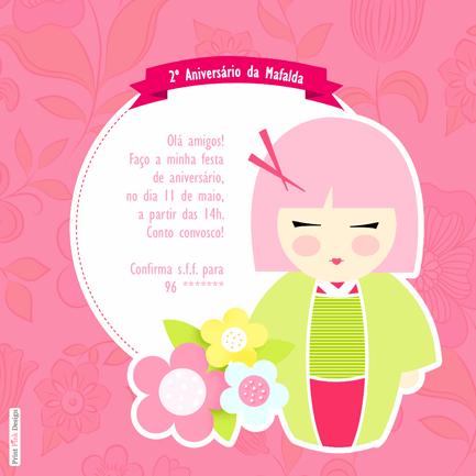 Print Pink Design  Kimmidoll Bonecas Japonesas