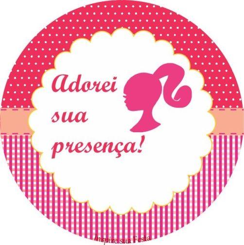 Barbie Rosa Kit Festa Grátis Para Imprimir