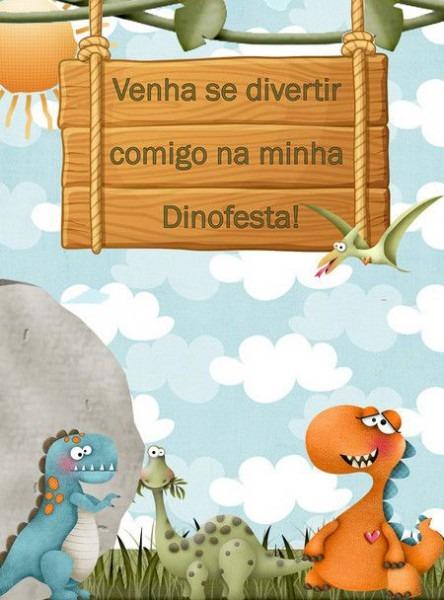 Convite Animado Dinossauro   Dinofesta