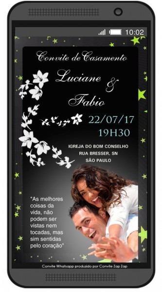 Convite De Casamento Whatsapp Amor Eterno Amor