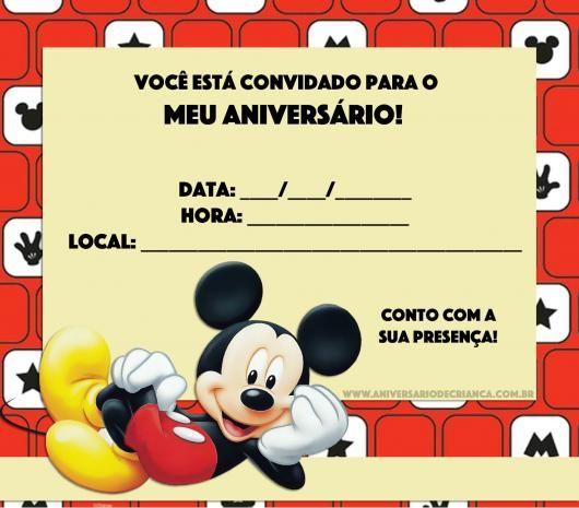 Há Diversas Ideias De Convites Do Mickey Para Combinar Com A