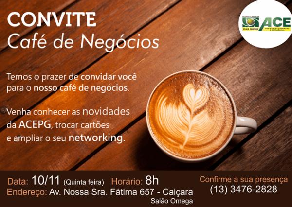 Café De Negócios Especial De Novembro
