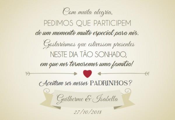 Caixa Convite E Lembrança Padrinhos Casamento