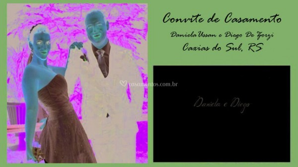 Convite  Daniela E Diego De Caligrafia De Convites
