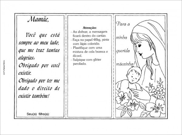 30 Cartões De Dia Das Mães Para Imprimir! 30 Modelos De Cartão De