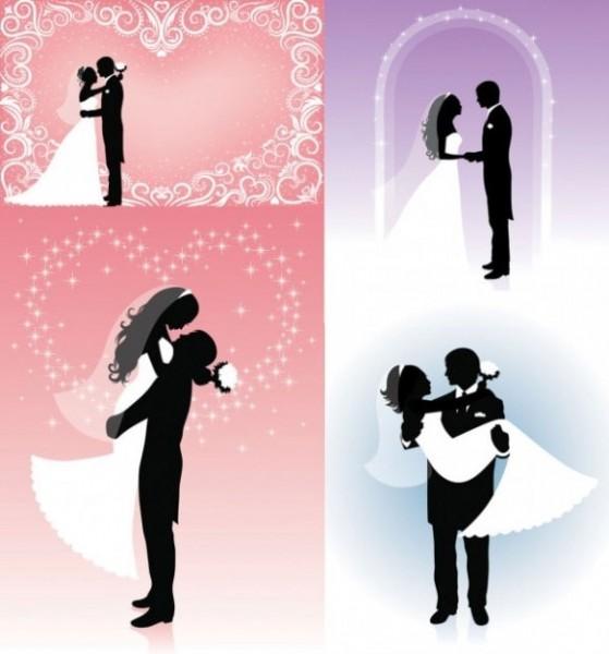 Noivinhos Para O Convite De Casamento