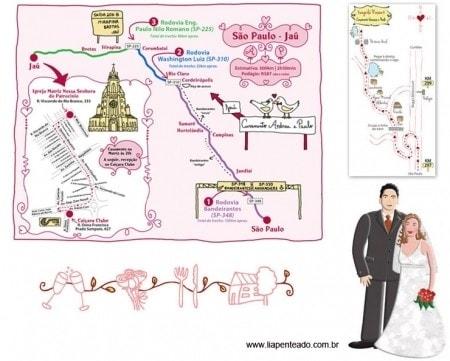 Mapas Para Casamento