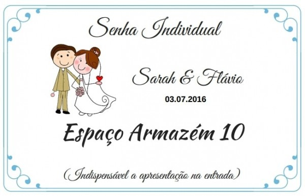 Senha Convite Individual