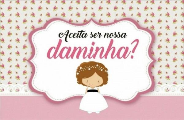 Vem Ver !! Tags Para Convite Da Daminha E Pajens