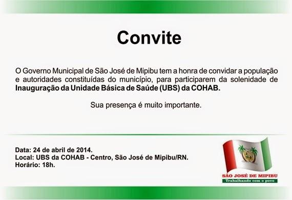Blog Renan Silva  Convite Para Solenidade De Inauguração Da