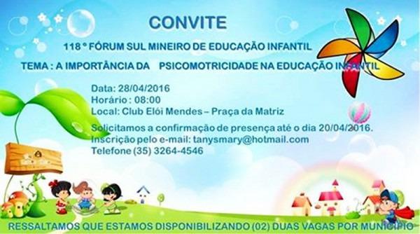 118º Encontro Do Fórum Sul Mineiro De Educação Infantil