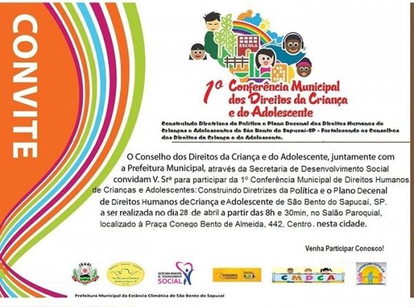 1ª Conferência Dos Direitos Da Criança E Do Adolescente  Confira