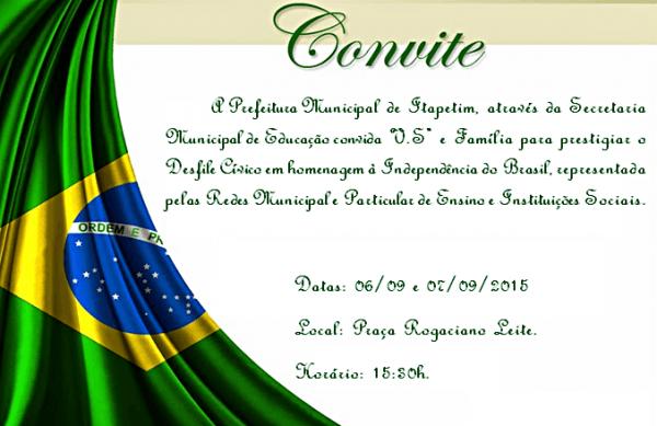 Prefeitura De Itapetim Divulga ProgramaÇÃo Do Desfile CÍvico