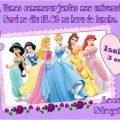Modelo De Convite Das Princesas