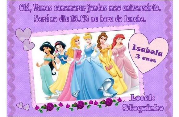 Gn Convites De Festas  Convite As Princesas 29 04 2014