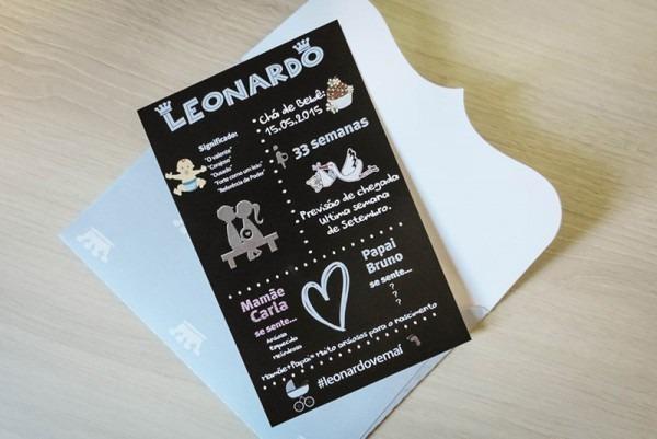 Convite Chá De Bebê Leonardo
