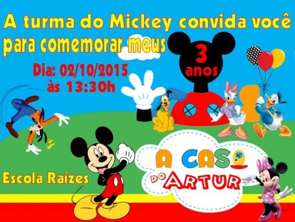 Convite Casa Do Mickey