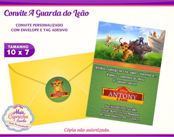 Convite A Guarda Do Leão No Elo7