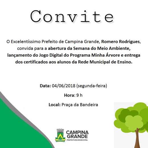 Convite Para Abertura Da Semana Do Meio Ambiente