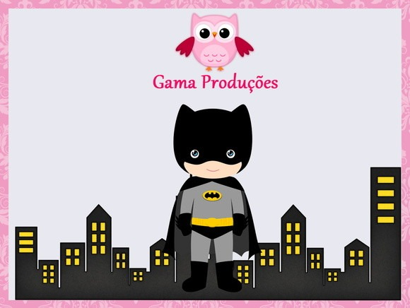 Convite Animado Batman No Elo7