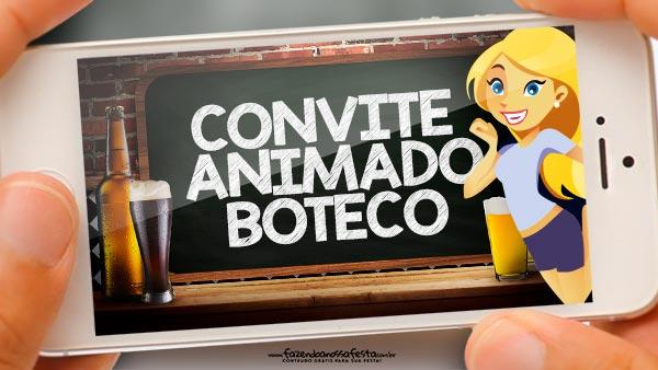 Convite Animado Boteco Grátis Para Baixar E Editar