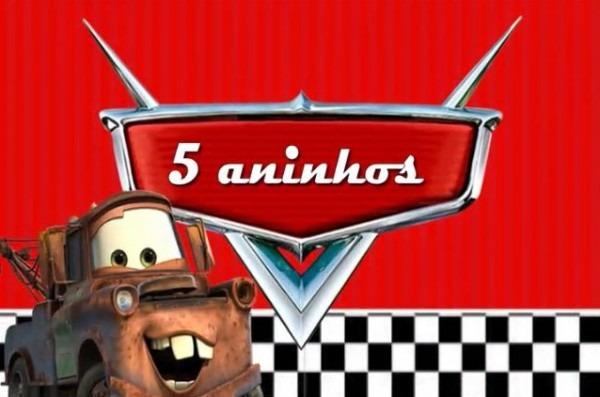 Convite Animado Carros No Elo7