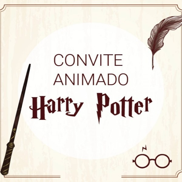 Convite Animado Harry Potter