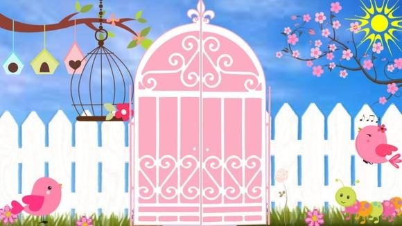 Convite Animado Jardim Encantado