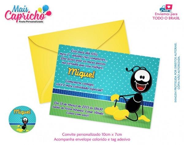 Convite Aniversário Infantil Personalizado Smilinguido No Elo7