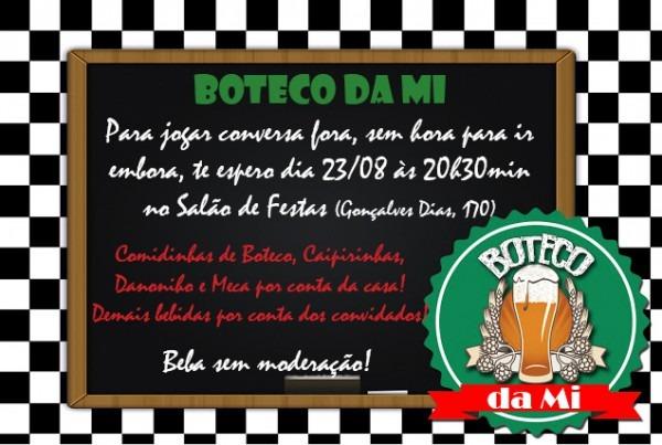 Convite Boteco (virtual) No Elo7