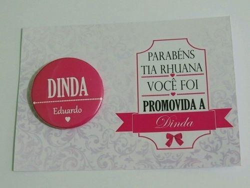 Convite Boton Cartão Promovido A Dindo Dinda De Consagração