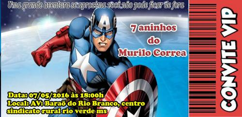 Convite CapitÃo America
