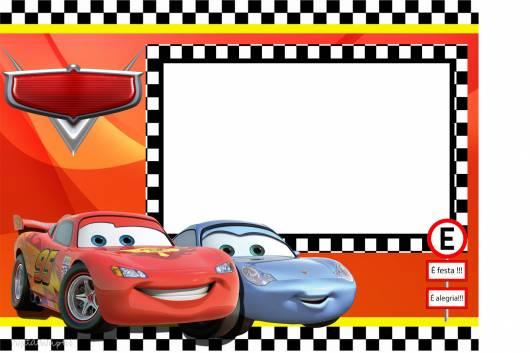 Convite Carros Disney  Modelos Grátis!